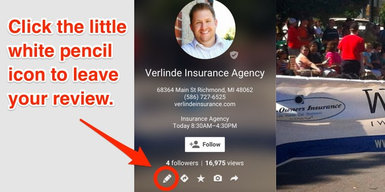 Rate Verlinde Insurance on Google Plus