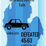 Auto Insurance Reform Bill is Defeated